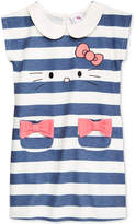 Hello Kitty Striped Embroidered Dress, Toddler & Little Girls (2T-6X)