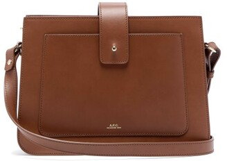 A.P.C. Albane Smooth-leather Cross-body Bag - Tan