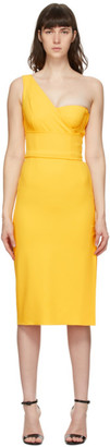 Dolce & Gabbana Yellow Cady One-Shoulder Dress