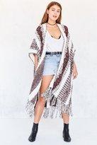 Ecote Textured Stripe Sweater Poncho