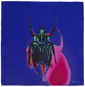 Paul Smith Silk Photographic Beetle Pocket Square