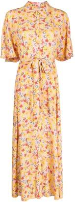 By Ti Mo Floral-Print Shirt Dress