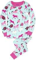 Hatley Girl's Ponies & Peonies Pajama Set