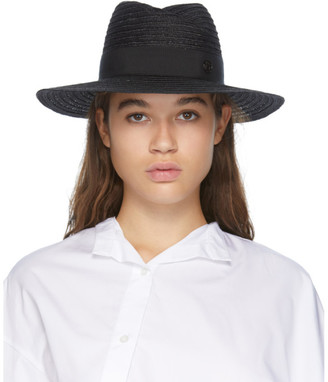 Maison Michel Black Andre Straw Hat