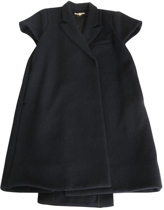 Carin Wester Blue Wool Coat for Women