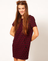 B+ab b + ab Horses Print Dress With Velvet Trim
