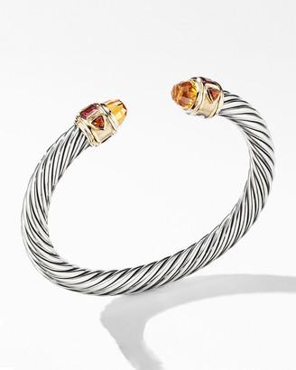 David Yurman 7mm Renaissance Bracelet w/ 14k Gold & Stones