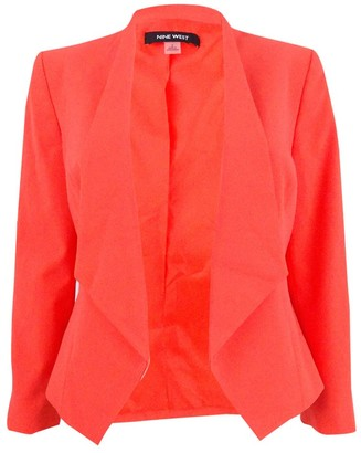 Nine West Women's Plus Size Wing Lapel Kiss Front Jacket (2)