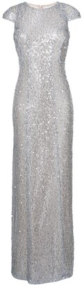 Galvan Estrella sequinned cap sleeve dress