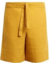 Hecho Drawstring-waist Linen Shorts