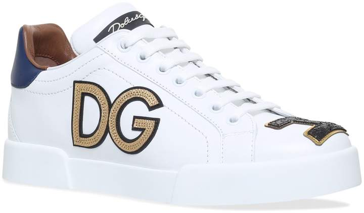 Dolce & Gabbana Leather Classic Crown Sneakers