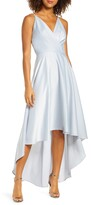 Chi Chi London Ivy Surplice High/Low Satin Gown
