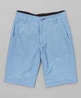 Burnside Blue Shadow Say It Hybrid Shorts - Boys