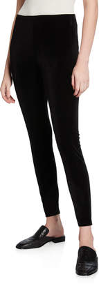 Eileen Fisher Recycled Stretch Velvet Ankle Leggings