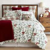 Pier 1 Imports Winter Birds & Plaid Reversible Duvet Cover & Sham