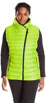 Champion Women's Plus-Size Performance Poly Vest with Synthetic Down