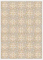 Jonathan Adler Camel Greek Key Peruvian Llama Flat Weave Rug