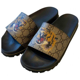 Gucci Beige Cloth Sandals