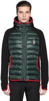 Moncler Hooded Fleece & Nylon Down Jacket