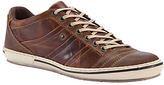 Dune Scribble Leather Trainers, Tan