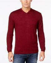 Weatherproof Men's Big and Tall Cashmere Blend V-Neck Sweater, Classic Fit