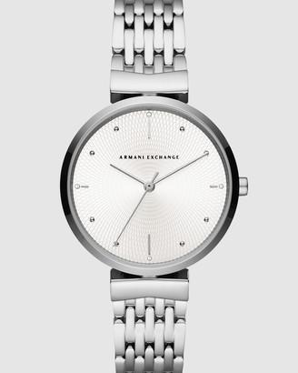 Armani Exchange Silver-Tone Women's Analogue Watch