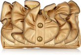 Sara Berman Zoe metallic leather clutch