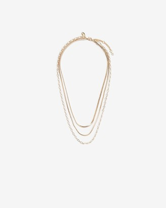Express Three Row Multi-Chain Necklace
