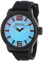Kenneth Cole Reaction Unisex RK1325 Street Triple Black Bright Blue Dial Watch
