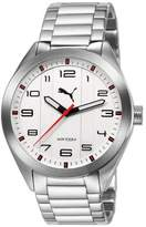Puma Men's PU103321001 Analogue Stainless Steel Band White Dial Watch