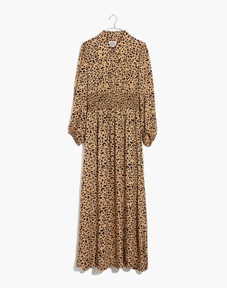 Madewell Baum Und Pferdgarten Amber Midi Dress in Leopard Print