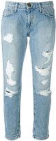 Current/Elliott cropped distressed jeans - women - Cotton - 31