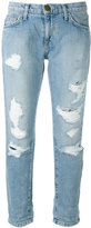 Current/Elliott cropped distressed jeans