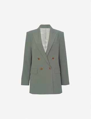 Frankie Shop Elvira double-breasted crepe blazer