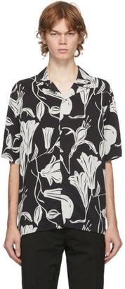 Paul Smith Black Floral Cutout Short Sleeve Shirt