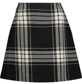 McQ Checked Wool-Blend Mini Skirt