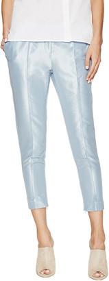 Ji Oh Metallic Cropped Skinny Pant