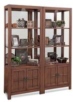 LIBRARY Darby Home Co Shelia Bookcase Darby Home Co Color: Chestnut