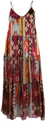 Forte Forte Geometric Print Silk Dress