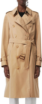 Burberry Kensington Heritage Belted Long Trench Coat