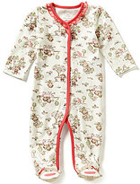 Baby Starters Baby Girls 3-9 Months Sock Monkey Printed Footed Coverall