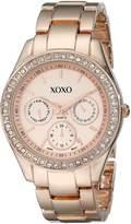 XOXO Women's XO5502 Rhinestones Accent Rosegold-Tone Bracelet Watch