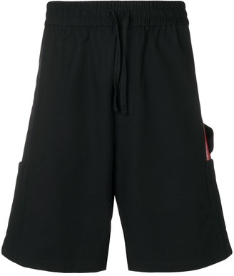 Heron Preston Knee Length Cargo Shorts