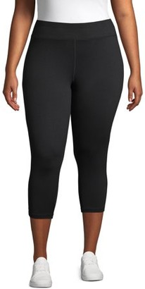 Just My Size Women's Plus Size Active Wicking Workout Capri Leggings