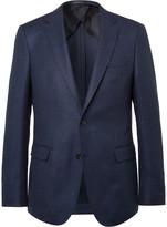 HUGO BOSS Navy Slim-Fit Stretch Virgin Wool Blazer