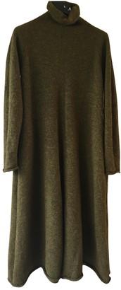Yohji Yamamoto Khaki Wool Dress for Women