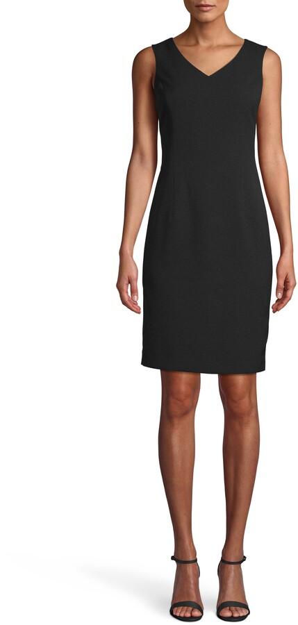 Anne Klein Sleeveless Crepe Sheath Dress