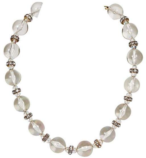 Chanel Lucite Rhinestone Choker Necklace