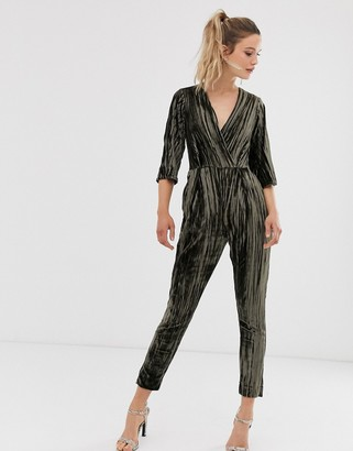 Closet London Closet wrap slim leg jumpsuit