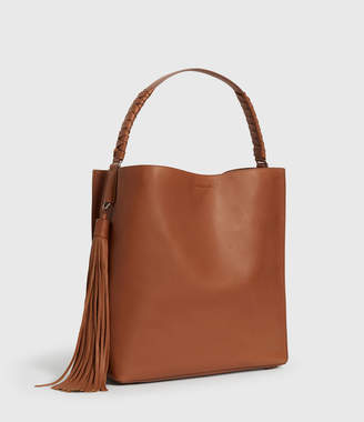 AllSaints Shirley North South Leather Tote Bag